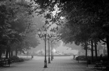Borsos Szilárd: Hajnali köd Kecskeméten
