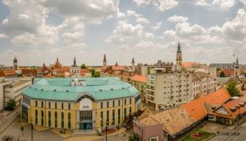 Borsos Szilárd: Kecskemét nappali belvárosi panoráma