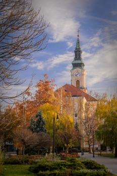 Borsos Szilárd: Kecskeméti Nagytemplom őszi színekben