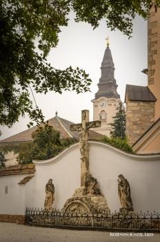 Borsos Szilárd: Kecskeméti Református templom a Barátok templomával az előtérben